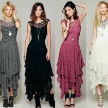 Кружевное ассиметричное платье