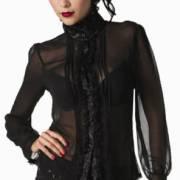 готическая блузка