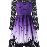 Готическое платье с кружевом Halloween Bats