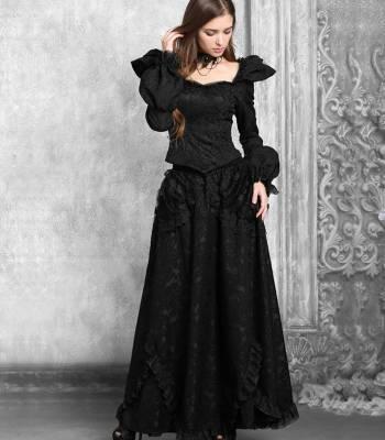 готическая юбка с кружевом