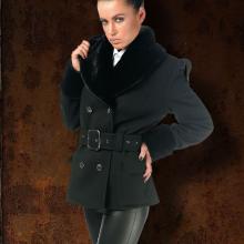 женское милитари пальто