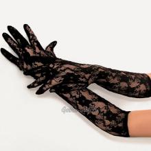 Длинные кружевные перчатки