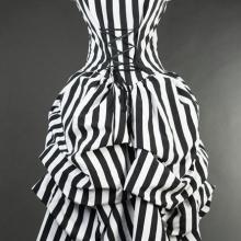 викторианское платье в полоску