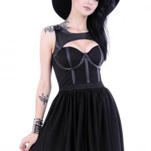 готическое платье ведьма