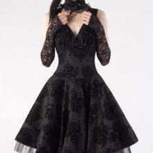 пышное готическое платье