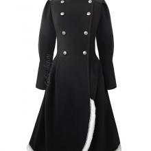 Двубортное женское зимнее пальто