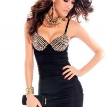 платье лиф с шипами