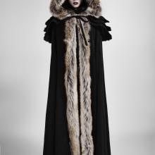 готическое пальто с мехом