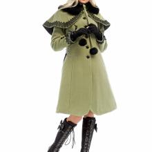 Зимнее пальто с пелериной
