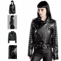 Женская куртка-косуха с шипами