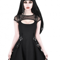 Готическое платье с ремнями