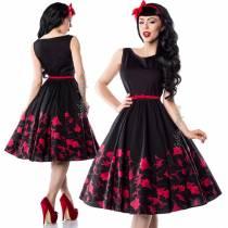 Платье в стиле 50-х с цветочным узором