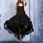 готическое платье с корсажем