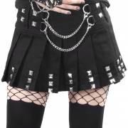 готическая юбка с цепочкой