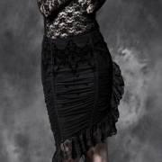 ассиметричная готическая юбка