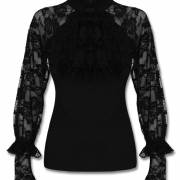 кружевная готическая блузка