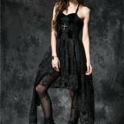 Готическое ассиметричное платье