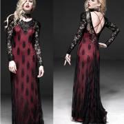 длинное готическое платье
