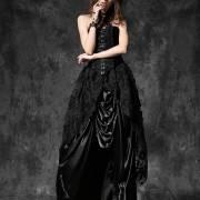кружевная готическая юбка
