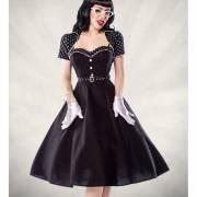 Винтажное платье с болеро в горошек