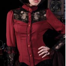 готическая блузка кружевная