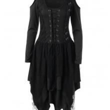 Готическое платье со шнуровкой