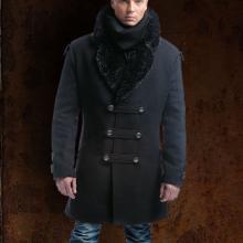 мужское милитари пальто
