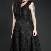 готическое кружевное платье
