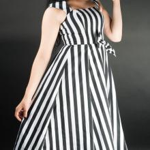 платье в полоску стимпанк