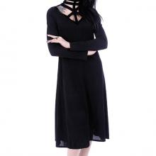 Готическое платье с портупеей