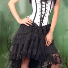 Кружевная ассиметричная юбка в викторианском стиле