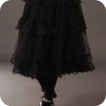 Пышная кружевная юбка в готическом стиле