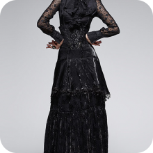 Длинная готическая юбка с высокой талией