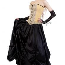 Готическая юбка со шлейфом