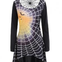 готическое платье паук