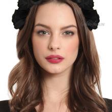 Обруч с черными розами