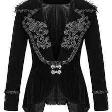 Женский вельветовый пиджак в готическом стиле