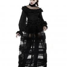 готическая юбка кринолин