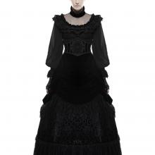 готическая юбка длинная