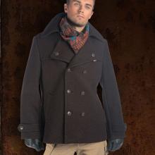 мужское пальто в стиле милитари