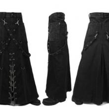 Мужская готическая юбка с ремнями